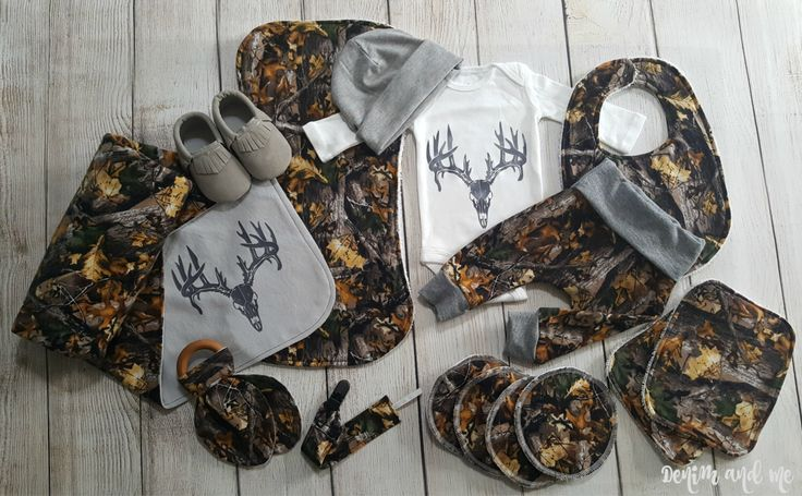 Baby Boy Deer Skull Baby Boy Gift Set- Newborn Baby Boy Gift Set Baby Boy Camo Deer Coming Home Outfit Gift Set- 2 Purchasing Options by DenimandMe on Etsy https://www.etsy.com/listing/500409509/baby-boy-deer-skull-baby-boy-gift-set