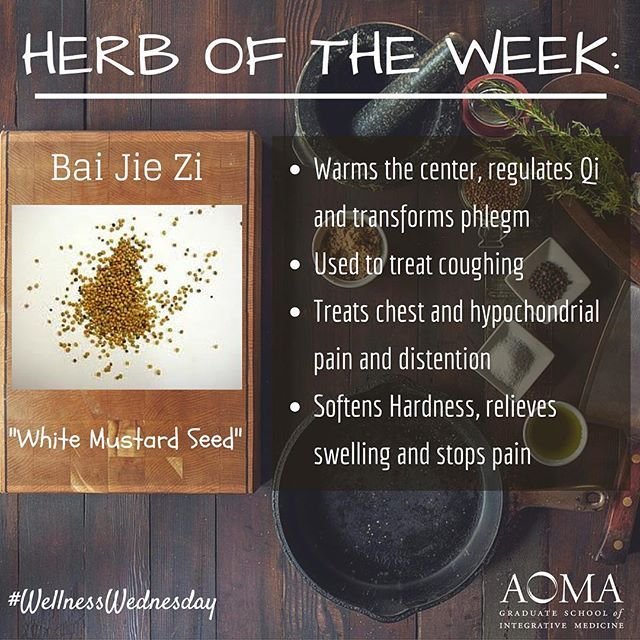 #WellnessWednesday:  Chinese #Herb of the Week, Bai Jie Zi! ☺️ #integrativelife