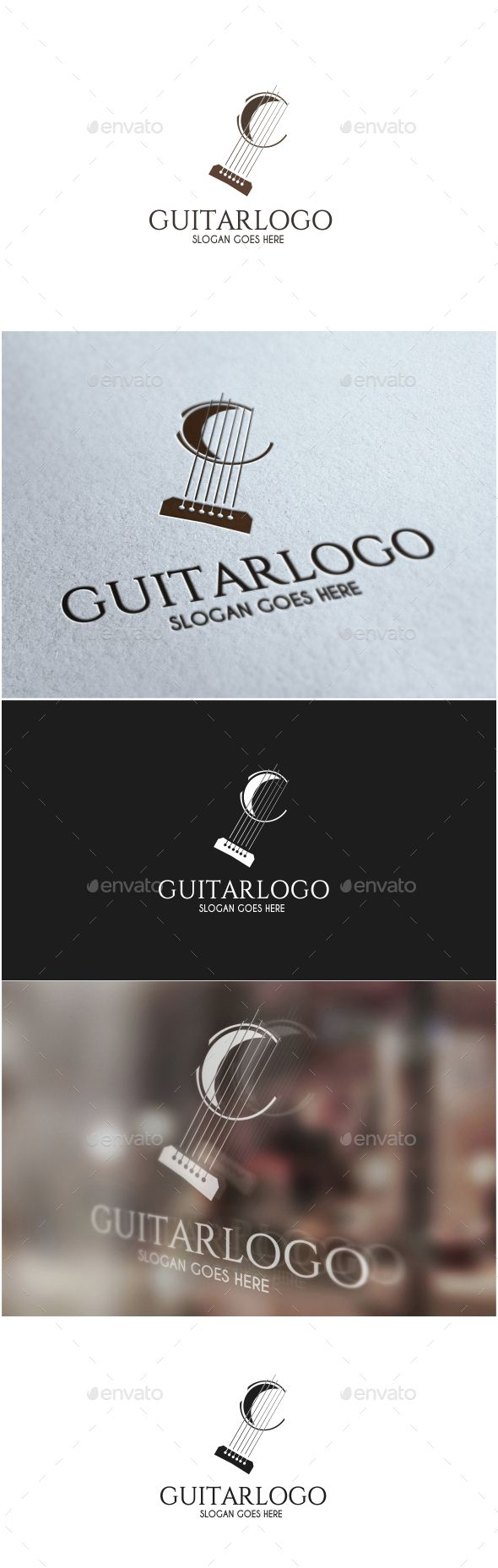 Guitar Logo — Vector EPS #studio #string • Available here → https://graphicriver.net/item/guitar-logo/15097601?ref=pxcr
