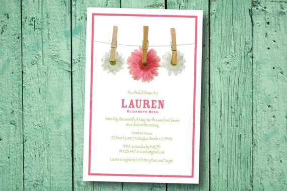 Daisy Theme Bridal Shower or Baby Shower Invitation by socalcrafty, $ ...
