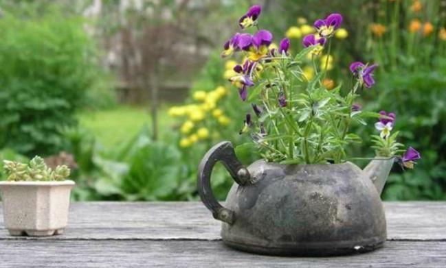 5 ideas para decorar el jardín con teteras viejas - IMujer Más