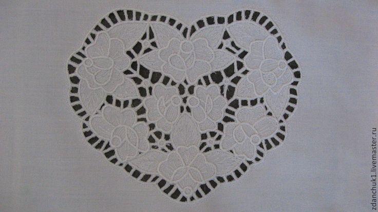 """Купить Картина """"Дарю свое сердце"""". - сердце из цветов, сердце в подарок, Вышитая картина, вышивка"""