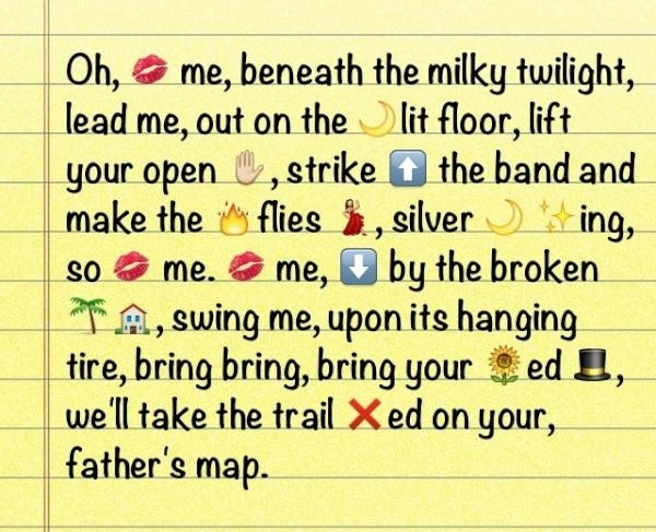 wanting a relationship poems with emojis