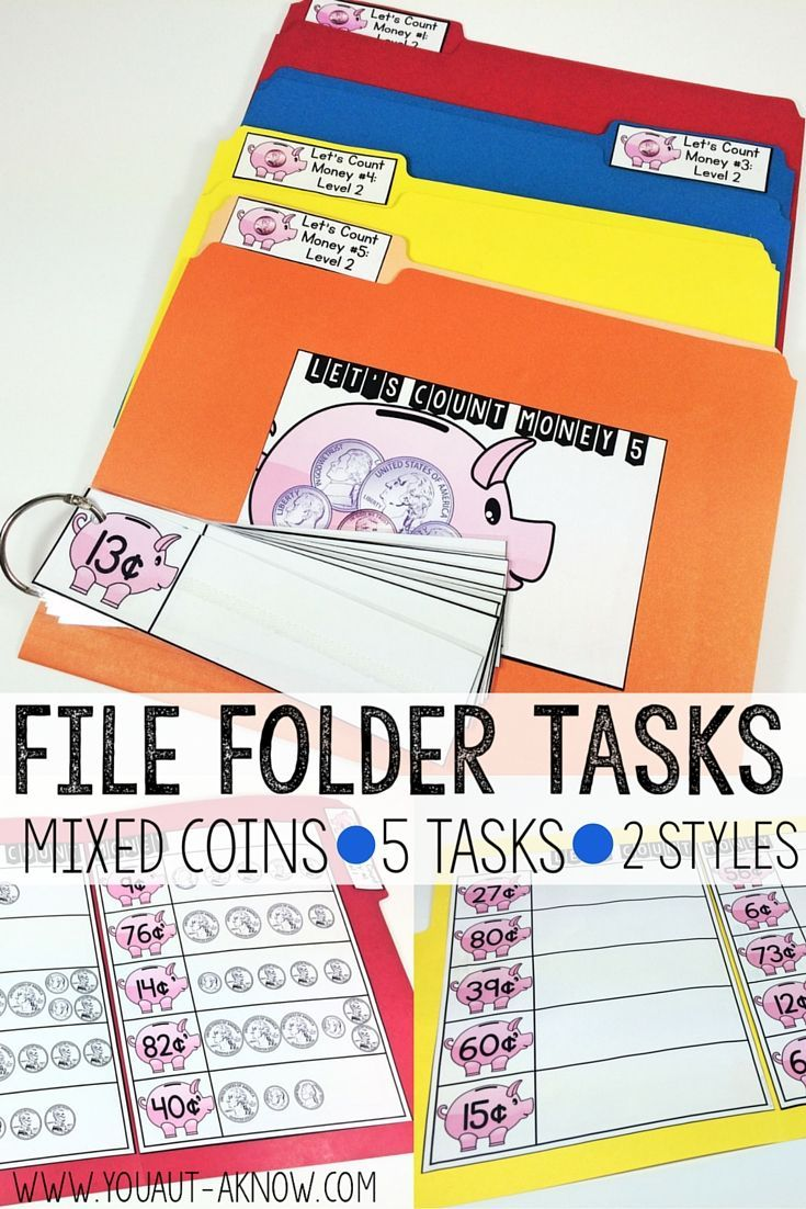 506 best file folder games images on pinterest file folder games 5 file folder tasks for counting coins in 2 different styles means you get 10 fandeluxe Gallery