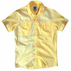 Kısa Kollu Çift Cepli Pamuk Gömlek Sarı 331802 SARI