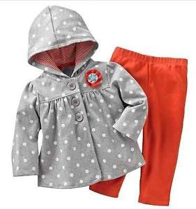 yellow and gray baby girl stuff | Carters Baby Girl Clothes 2 Piece Set Outfit Red Gray 3 6 9 12 18 24 ...