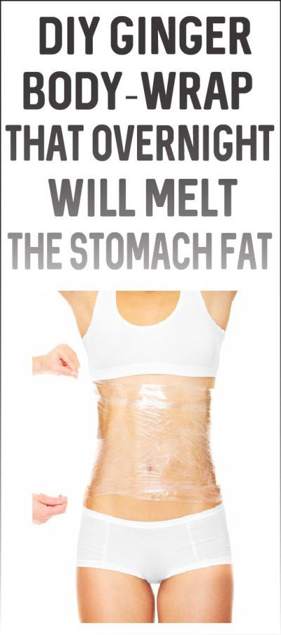 DIY Ginger Body-Wrap That Overnight Will Melt The Stomach Fat