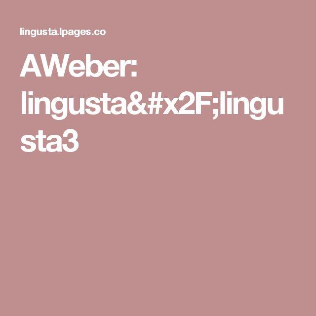 AWeber: lingusta/lingusta3