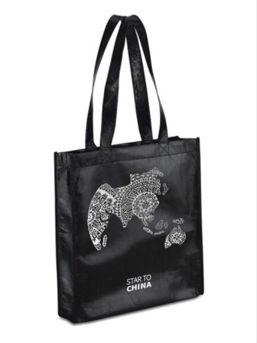 Bag Zenworld black - Star to China  #zentangle #zenworld #fashion #black #bag #china #design #global #world #star #startochina
