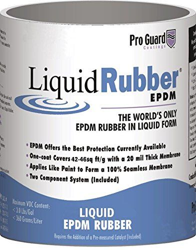 Liquid Rubber 1 Gallon White Meridian Liquid Coatings Llc