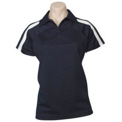 Ladies Cooldry Mont Polo Min 25 - This ladies semi-fit cooldry poly fabric shirt with slimline packet is made from cooldry poly fabric. #PoloShirts  #PromotionalProducts  #PromotionalPoloShirt  #CooldryPoloShirts #LadiesPoloShirt