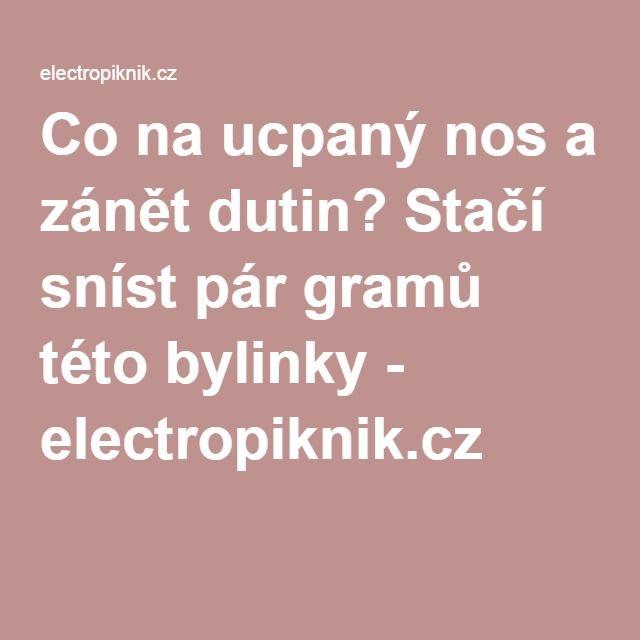 Co na ucpaný nos a zánět dutin? Stačí sníst pár gramů této bylinky - electropiknik.cz