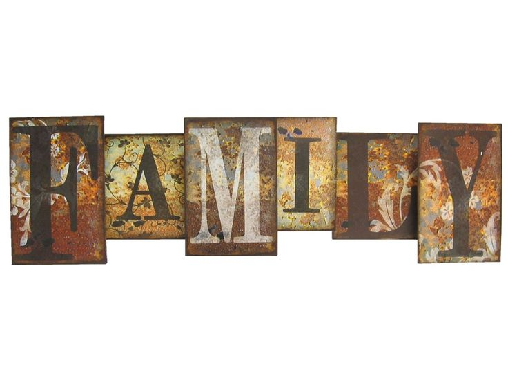 Family metal wall art