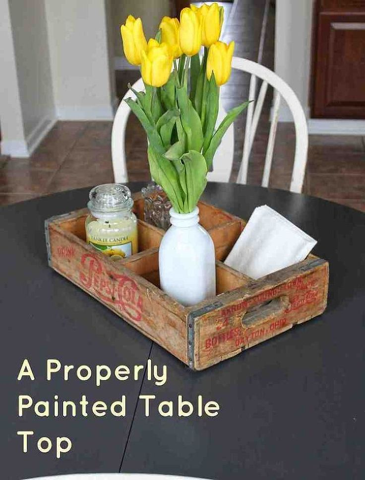 Properly Painted Table Top