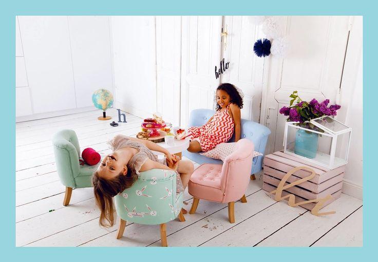 Kreslá, sedačky, taburetky / Detské dizajnové kreslo mint