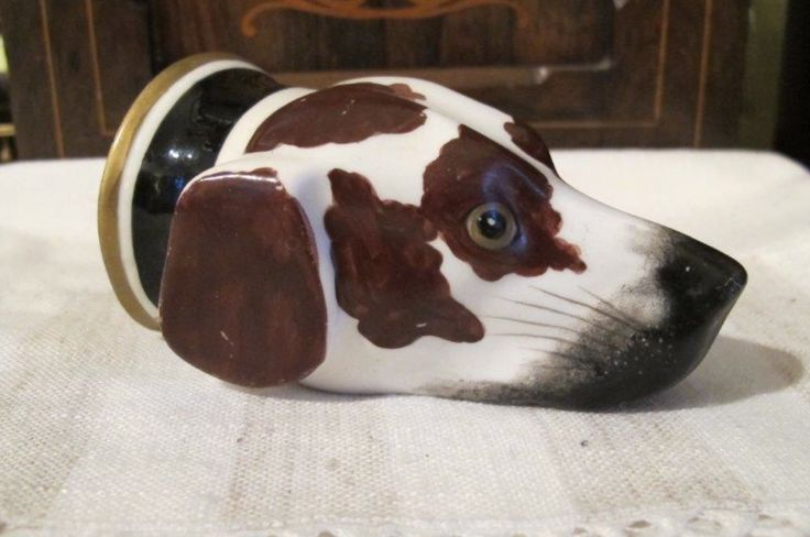 1830's Staffordshire Dog Head Stirrup Cup www.maisondog.co.uk