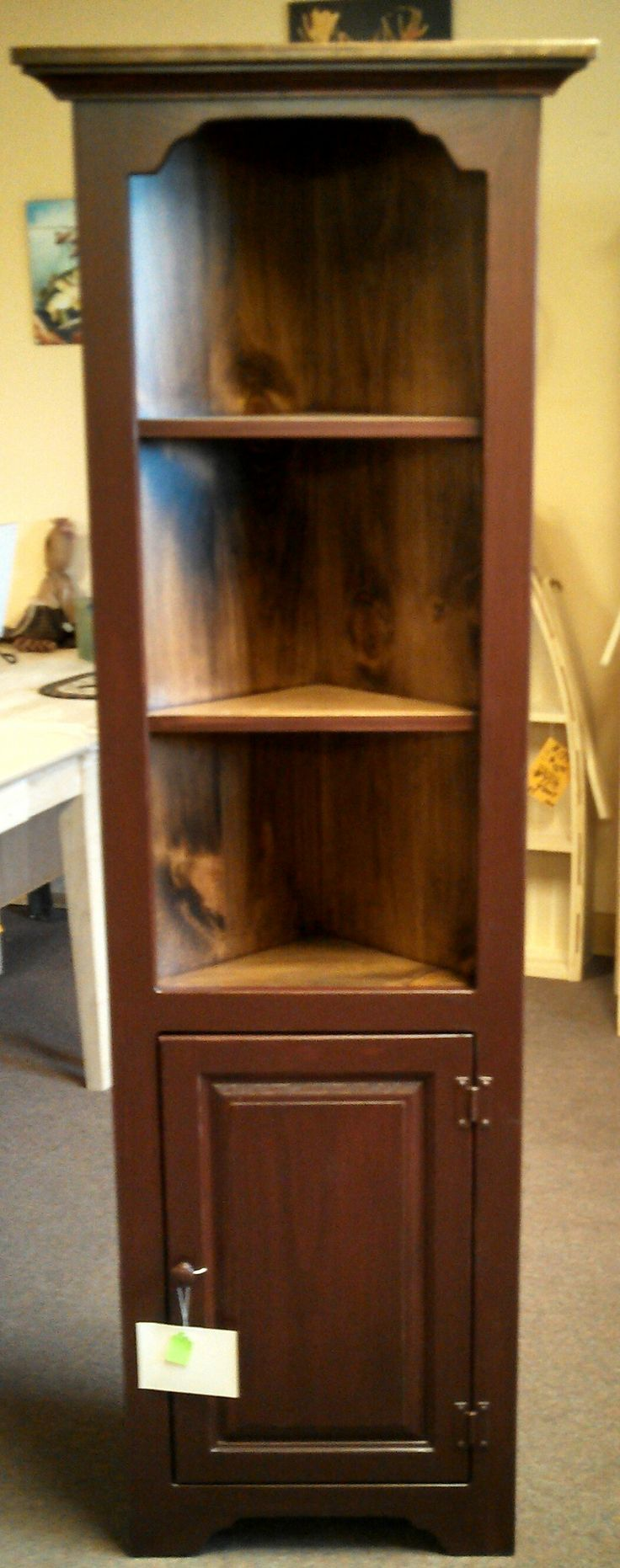 corner bookcase with door on bottom we have many different styles colors and options made in. Black Bedroom Furniture Sets. Home Design Ideas