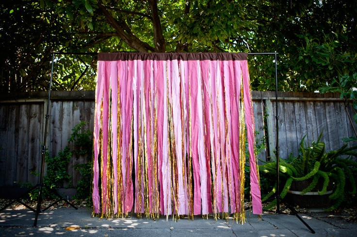 tinsel backdrop from the high five factory
