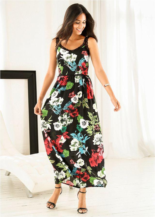 Długa sukienka z koronką Piękna • 159.99 zł • bonprix