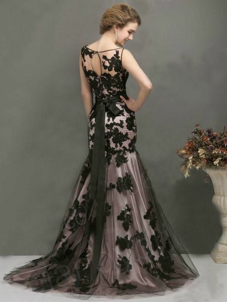 2014 New Sexy Black Long Formal Evening Ball Prom Cocktail Dresses Wedding Gown Handmade