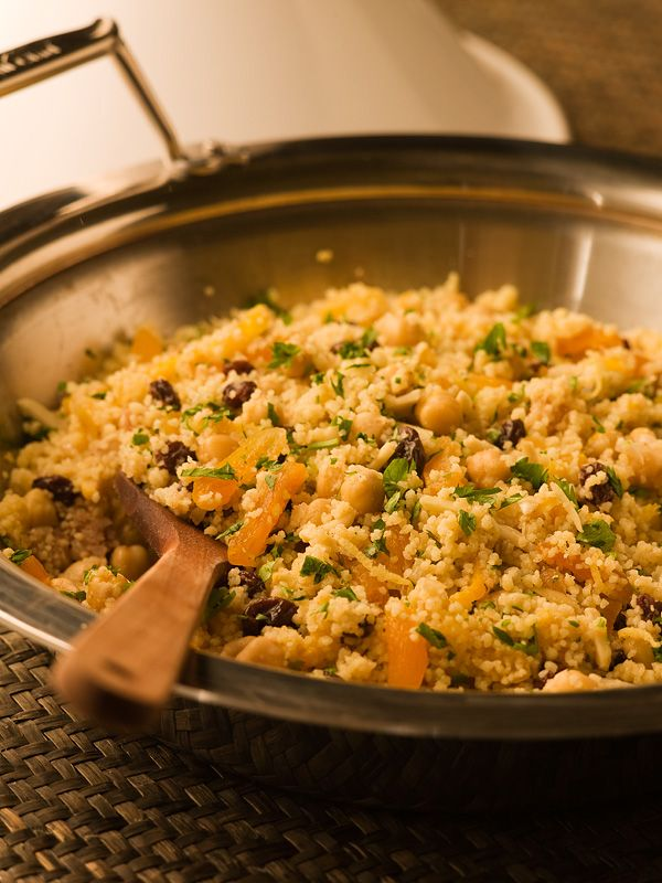 Moroccan Couscous, from Michael Smith - we omit the almonds and it still tastes delicious!