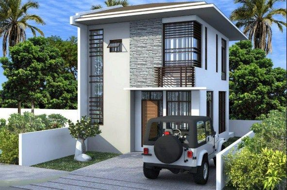 Simple 2 Storey House Design Philippines Facade 2 Storey