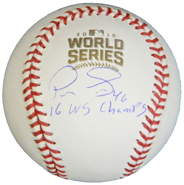 Pedro Strop Signed Rawlings Official 2016 World Series Baseball w/16 WS Champs