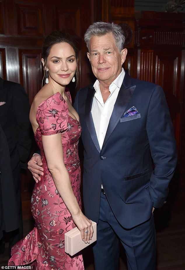 Katharine Mcphee Dazzles With David Foster At Hot Pink Party Katharine Mcphee Rose Pink Dress Pink Parties