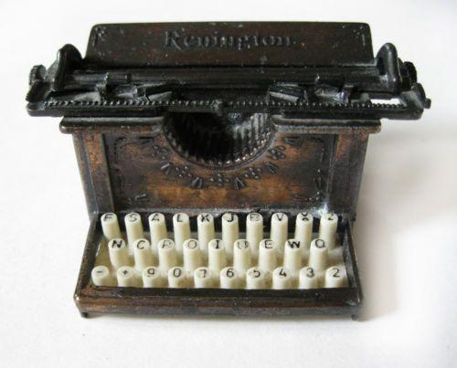 Vintage Miniature Die Cast Typewriter Metal Pencil Sharpener | eBay - SOLD