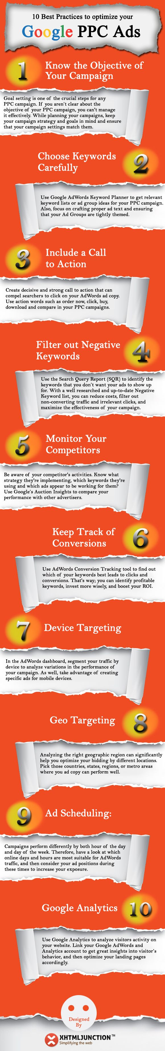 10 Tips & Best Practices to use when running a Google Adwords campaign! #PPCTips #Google #Adwords