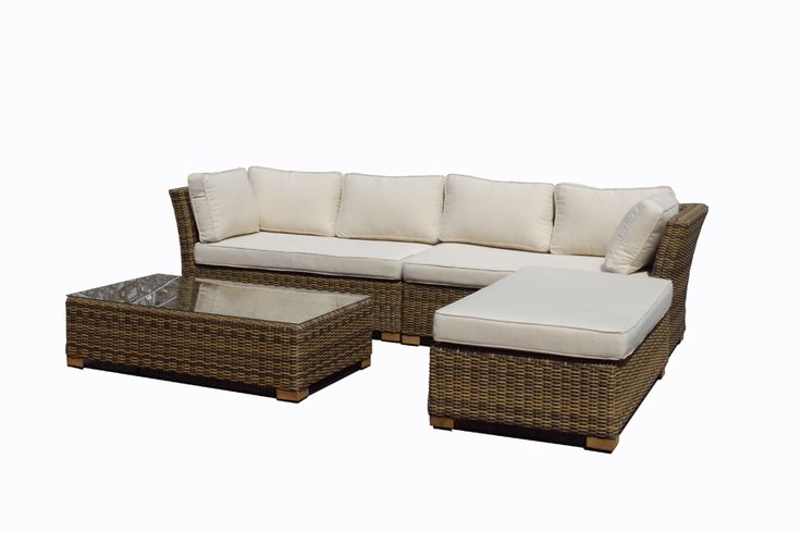 Kingston - Modular Corner Sofa In Outdoor Rattan Wicker - United House Furniture