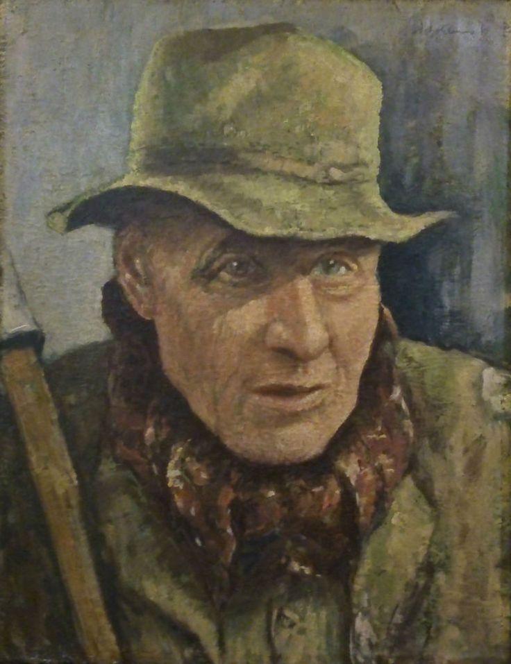 Huile sur bois circa 1937 portrait homme signature a identifier dim :35 X 27 cms