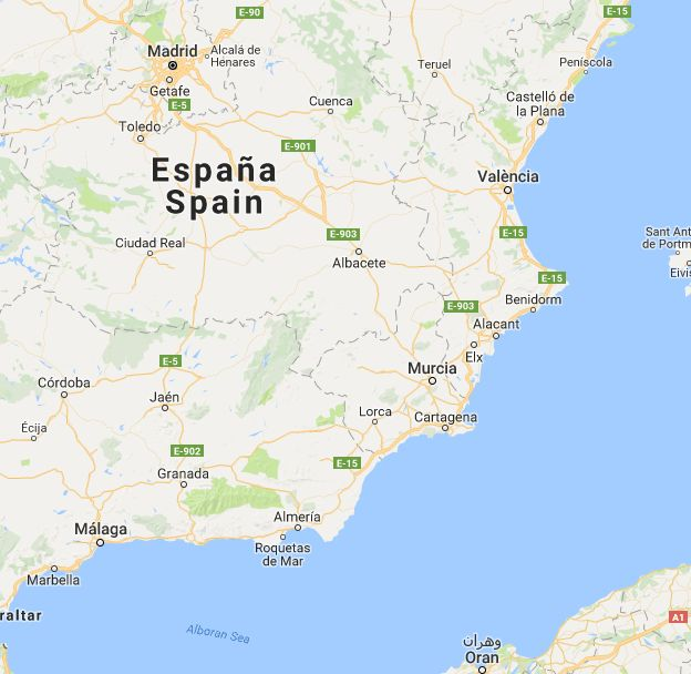 Distance between València, Spania and Granada, Spania, (Spain)