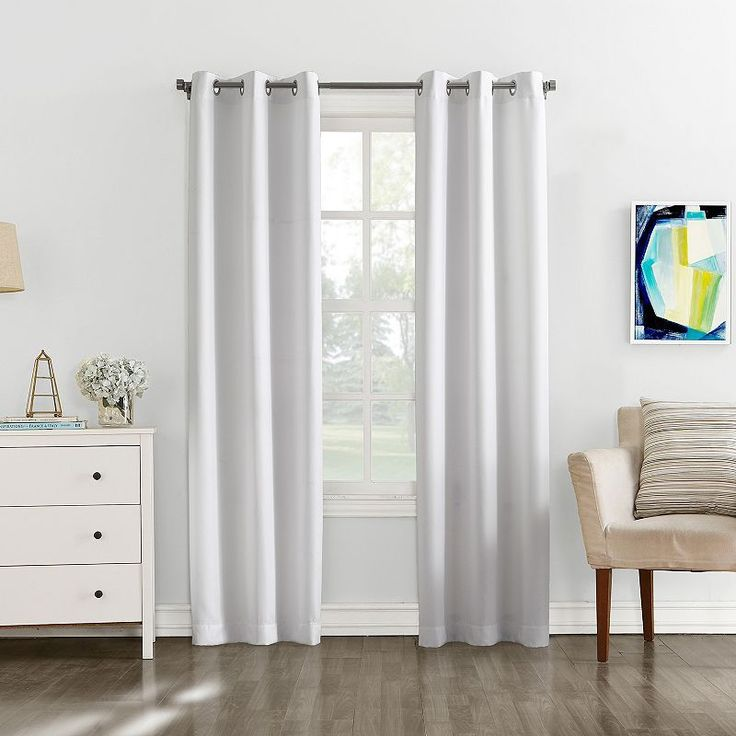 the big one 2pack brandon curtains white