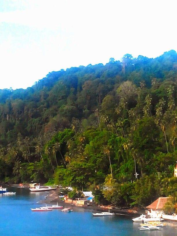 Viewing hills at Lembeh Strait, Manado, Sulawesi Utara, Indonesia, at Dabirahe Resort. #ManadoTrip2013