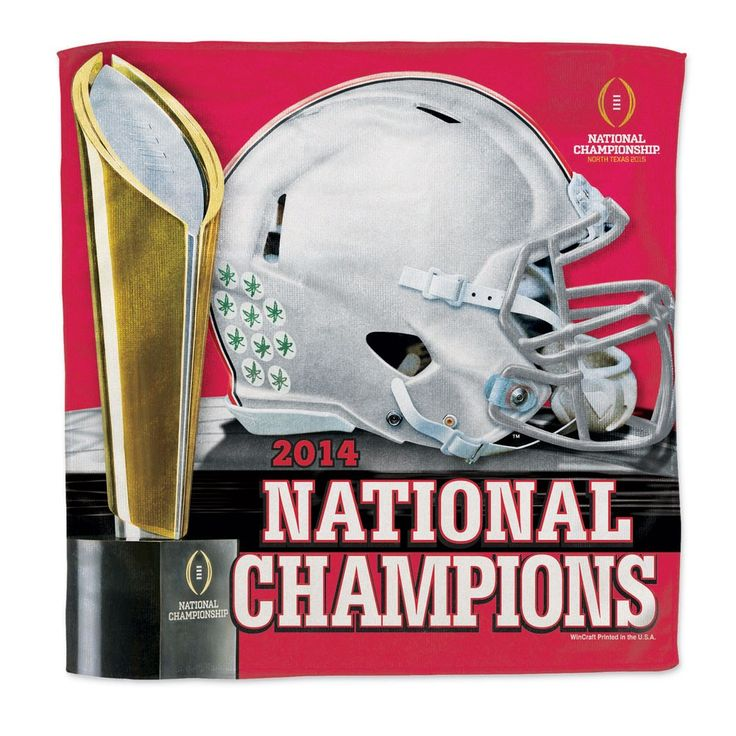 Ohio State Buckeyes 2014 College Football National Champions Micro Fiber Towel