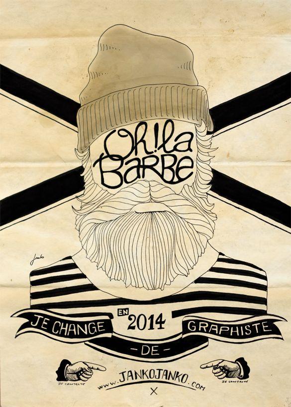Oh! La barbe. by Janko Janko, via Behance