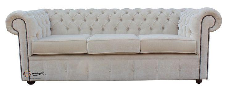 DesignerSofas4U | Buy oyster velvet Chesterfield sofa UK