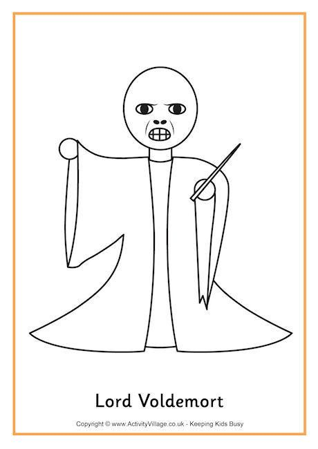 Lord Voldemort colouring page