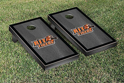 Rochester Institute of Technology Tigers Cornhole Game Set Onyx Stained Border Version >>> To view further for this item, visit the image link.