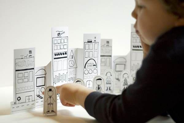 Made by Joel. Grafikus apuka ajándékai: nyomtatható színezők, mini papírvárosok, DIY-ötletek húsvétra