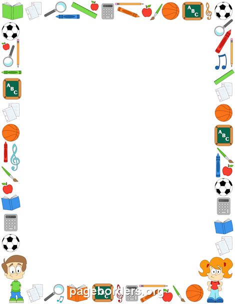 Printable classroom border. Free GIF, JPG, PDF, and PNG downloads at http://pageborders.org/download/classroom-border/