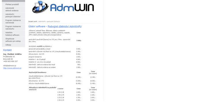 Účetní software AdmWin, podvojné účetnictví