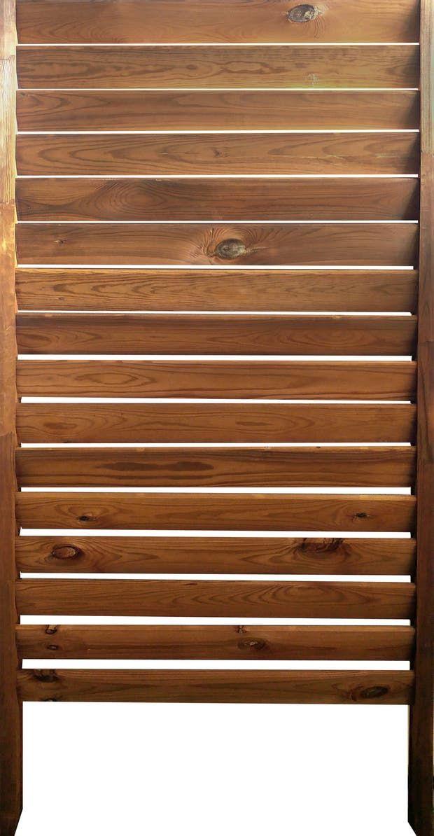 Panneau en kit bois ajouré, l.80 x H.180 cm, marron | Leroy Merlin en 2020 | Bois, Panneau ...