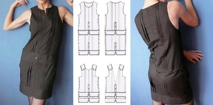 Перешить мужскую рубашку в платье