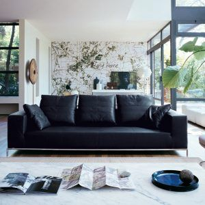 Wonderful Living Room Decorating Ideas Black Leather Couch