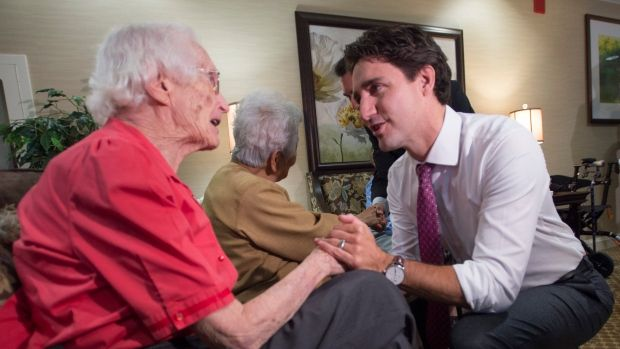 "Justin Trudeau campaigned on a commitment to drop the previous government's plan to boost the age of eligibility for Old Age Security to 67 from 65, a promise kept in the March 22 budget. But that hasn't ended debate about the cost of ""entitlements."""