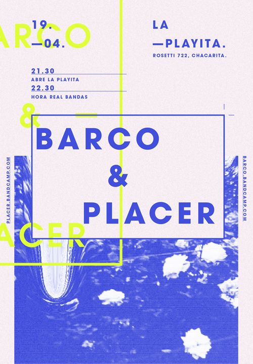 Flyer / Barco + Placer by Pia Alive, via Behance