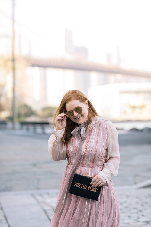 see by chloe  blouse tie blouse & asos sequin dress | prêt-à-provost #nyc