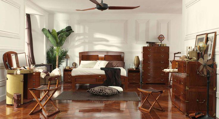 Chambre tropicale chic